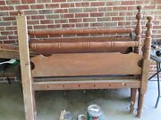 Antique Early American Three Quarter Rope 4 Poster Bed