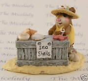 Wee Forest Folk Shelley, Wff M-235, Yellow Beach Sea Shell Mouse, Retired