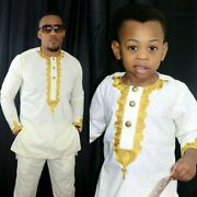 African Kids Clothing Bazin Riche Dashiki Men African Clothes South V21606