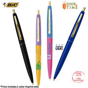 Promotional Bic Clic Gold Pen Printed W/ Company Information /logo /text 300 Qty