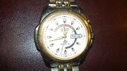 Vintage 1970s Seiko Kinetic Wristwatch. Japan . New Capacitor/batterysapphre