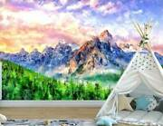 Mountain And Lake Wall Mural Paper Nursery Art Decor Diy Sticker Decal Gift L34