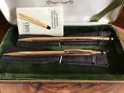 Cross 14k Solid Gold Vintage Ball Pen And Pencil Set - New In Box