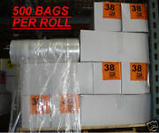 Dry Cleaning 38 Crystal Clear Poly Garment Bags 500 Bags/roll
