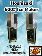 Hoshizaki 600 Ice Maker And Ice Dispenser-120v- 22andrdquowide -water Cooled-