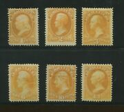 1873 United States Official Dept. Agriculture Stamps O1-o6 Mint Hinged Set