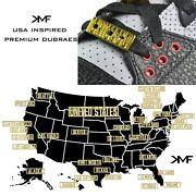Usa Cities And States Premium Metal Shoe Dubraes Lace Locks Buy 2 Get 1 Free