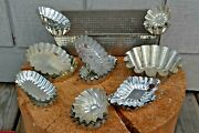 Vintage Swedish And Other Fluted Pastry Cookie Candy Tart Metal Tins Lot