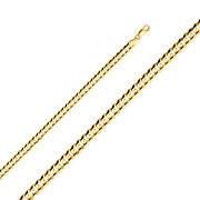 14k Yellow Or White Solid Gold 6.9mm Cuban Concave Chain Necklace -lobster Clasp