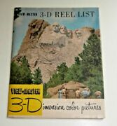 Sawyerand039s Viewmaster Reel List Form September 1954 Rare Vintage E851