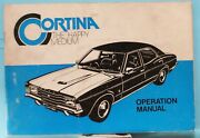 Ford Cortina Td Operation Manual/maintenance Schedule-1977