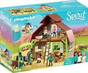 Playmobil Spirit Riding Free Barn With Lucky, Pru And Abigail 70118