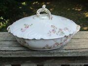C.h. Field Haviland Limoges Cfh Gdm 9 Covered Serving Dish Floral China Ware