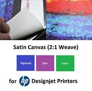 Satin Canvas Inkjet Poly-cotton 340gsm For Hp Designjet Latex Printers