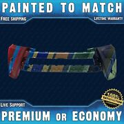 New Painted To Match - Front Bumper For 2017 2018 2019 Toyota Highlander W/ Park
