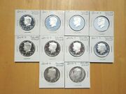 2010 11 2012 S 13 14 15 2016 17 18 2019 S Silver Proof Kennedy Half 10 Coin Set
