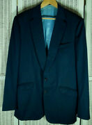 Cad And The Dandy Bespoke Blue Blazer 44andprime Chest 40andprimew Custom Made Savile Row Jacket