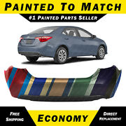 New Painted To Match Rear Bumper Cover Replacement For 2014-2019 Toyota Corolla