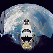 Fish-eye View Space Shuttle Atlantis Mir Sts-71 Mission Photo - Gpn-2000-001039