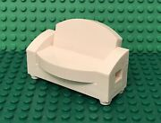 Lego Moc Mini Figures White Sofa Couch / Love Seat W/ Recliner Hinges Furniture