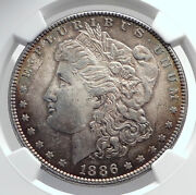 1886 United States Of America Silver Morgan Us Dollar Coin Eagle Ngc Ms I80035