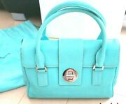 Very Rare Hard To Get Beauty Products And Co. Blue Cowhide Handbag Japan