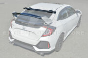 For 16-21 Honda Civic Hatchback Jdm Type-r Rear Spoiler And Spoon Style Roof Wing