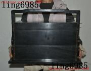 Old Chinese Ebony Wood Carved Ancient Portable Tableware Storage Food Box Boxes