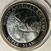 North American Hunting Club Big Game Whitetail Deer 1 Ounce .999 Silver Round
