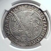 1610 Germany German States Saxony Christian Ii Silver Taler Coin Ngc I80061
