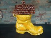 Vintage American Bisque The Old Woman Lived In A Shoe Cookie Jar-huge