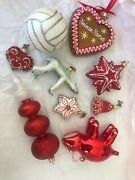 Neiman Marcus Christmas Tree Decorations Glass Collection 2010 Collectibles