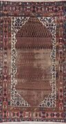 Antique Pre-1900 Malayer Oriental Area Rug Wool Hand-knotted Geometric 5 X 9