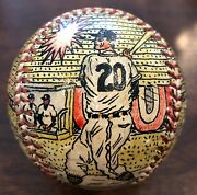 George Sosnak Hand Painted Charlie Kress Baseball Signed Tigers Reds Dodgers Sox