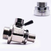 Ez Engine Oil Drain Valve Ez-211, Straight Hose End H-002 And Adapter A-211 Combo