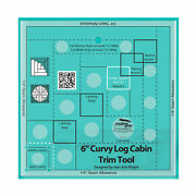 Creative Grids -- Curvy Log Cabin Trim Tool 6in Finished Blocks Quilt Ruler