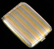 Antique 14k Rose Yellow White Gold Inlay Cigarette Holder With Cigar Cutter