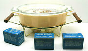 Vintage 10 Corning Ware Glass Works Pyrex Warming Casserole Dish+candles 2.5qt