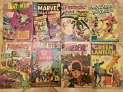 Low Grade Silver Age Comic Lot - Key Issues - Batman, Avengers, Daredevil And More