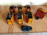 Lot Grote 55460 Truck Or Trailer Lights Nos Red And Amber 2 Sided With Gaskets
