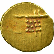 [653227] Coin, India, Fanam, Ms60-62, Gold