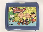 Vintage Peanuts 80s Lunchbox W/thermos Charlie Brown Snoopy Woodstock Lucy Patty