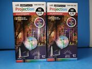 Led Swirling Light Show Projection Kaleidoscope Red Green Blue Holiday Set New