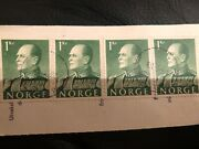 Norway Norge Oslow 1969 1 Kr Green Used Stamp