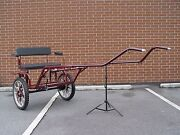 Horse Carriage 2-wheel Buggy 49 Wide Wheel Size 27 Burgundy