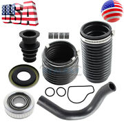 For Omc Cobra Rubber Bellows Transom Kit Water Hose Clamp Gimbal Bearing Seal