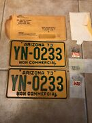 1973 Arizona License Plates Pair Nos With 74 And 76 Tags