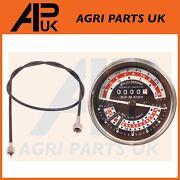 Rev Tachometer 6 Speed Mph And Tacho Cable For Massey Ferguson 165 175 185 Tractor