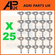 25x Ignition Switch Spare Key Lucas Type Metal For Massey Ferguson Ford Tractor