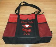 Genuine Disney Cruise Line Dream 2018 Red And Black Collectible Tote Bag Read